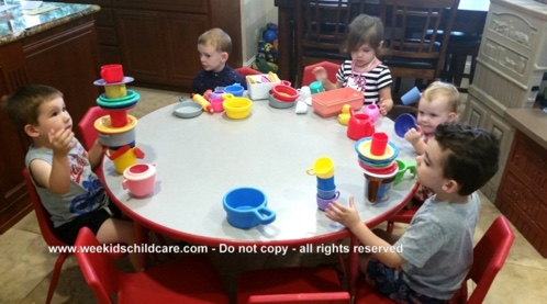 Toddlers At Table